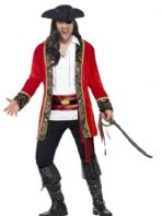 Curves Pirate Captain Man Costume (24464)